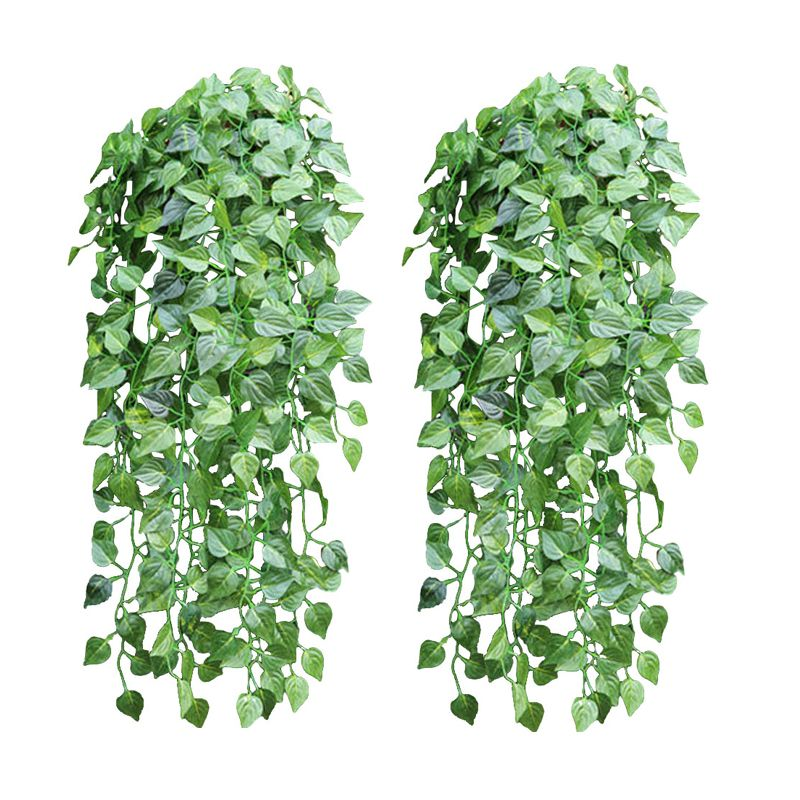 5 piece like real artificial Apple leaf garland faux vine Ivy Indoor outdoor home decor wedding flowers Plant green leaves Vine