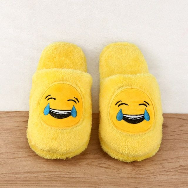 Cute Unisex Winter Man's Plush Slippers Indoor Shoes House Funny Women Slippers Emoji Shoes Warm House Slipper Hot Sale 2017
