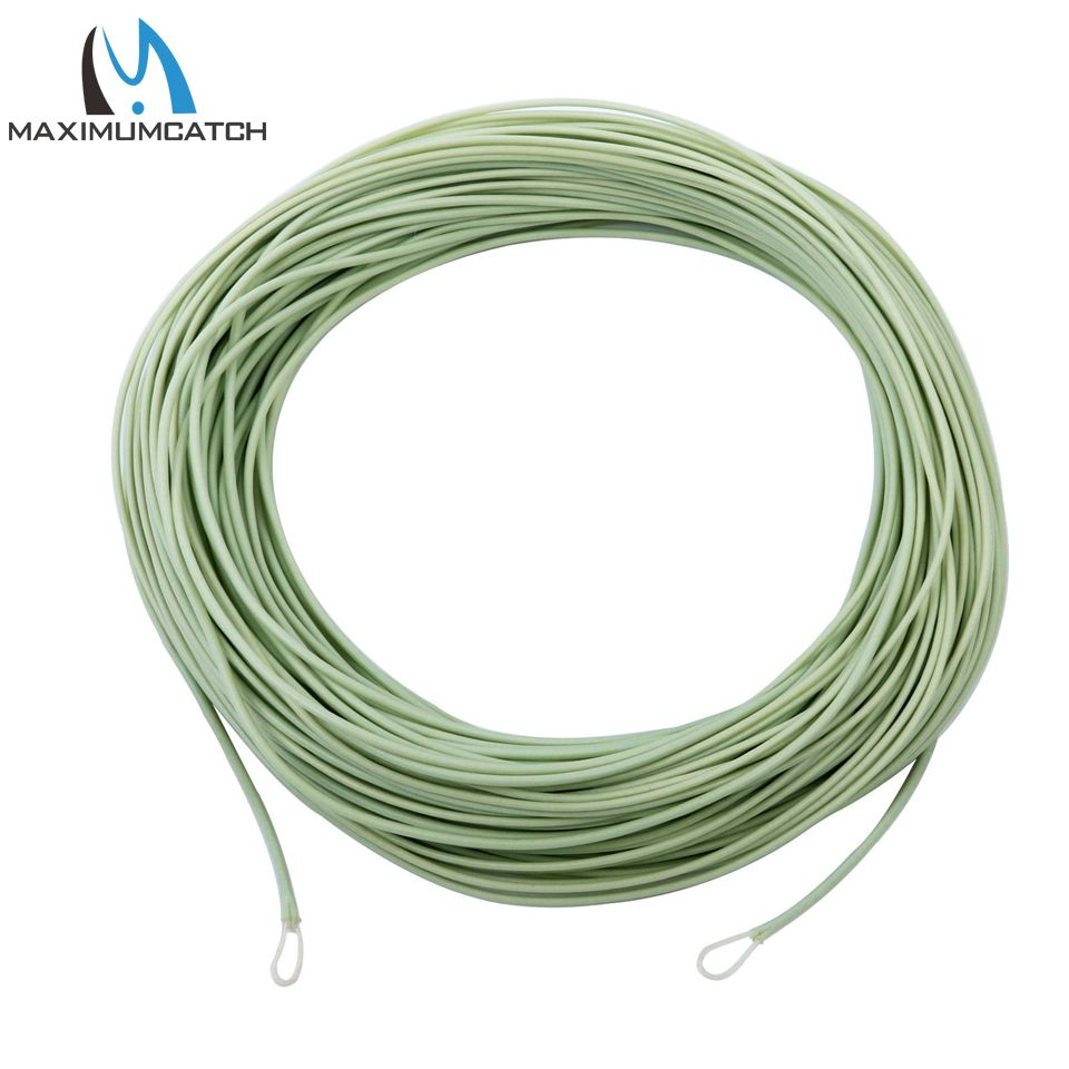 Maximumcatch 100FT Floating Fly Line With Exposed Loop WF 5/6/8 Trout Moss Green Fly Fishing Line
