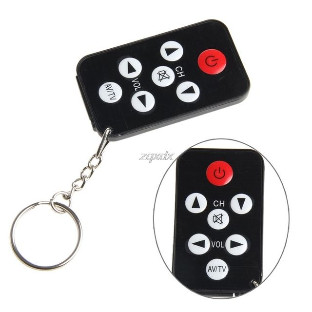 Key Ring 7 Keys Black Mini Universal Infrared IR TV Set Remote Control Keychain Z07 Drop ship