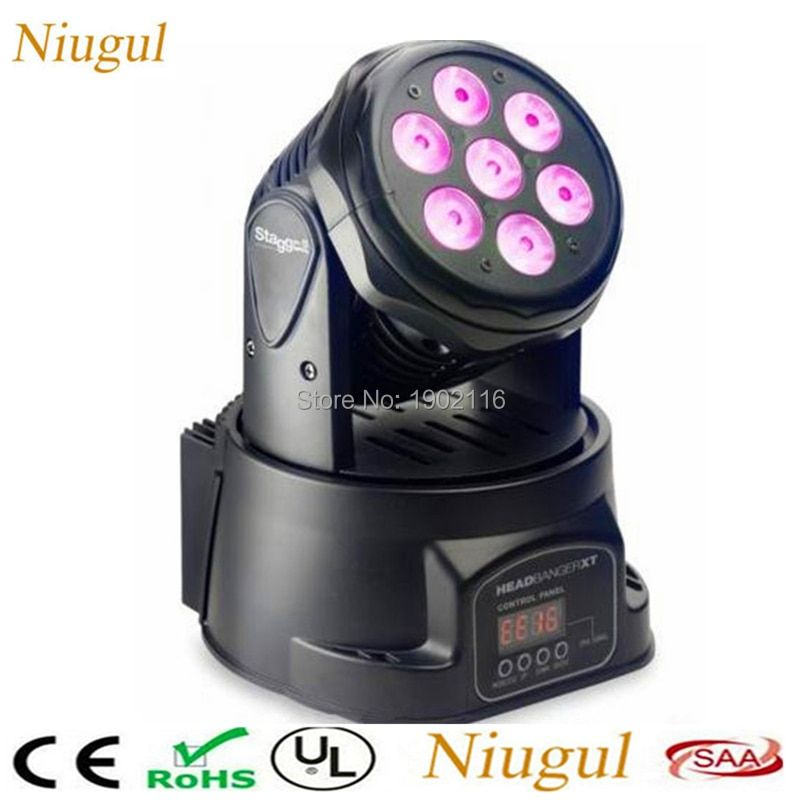 7x12W RGBW 4in1 LED Moving Head Lights/LED Beam Wash Effect Stage Lighting/DMX512 LED Spot Light For DJ Disco Club Party Wedding
