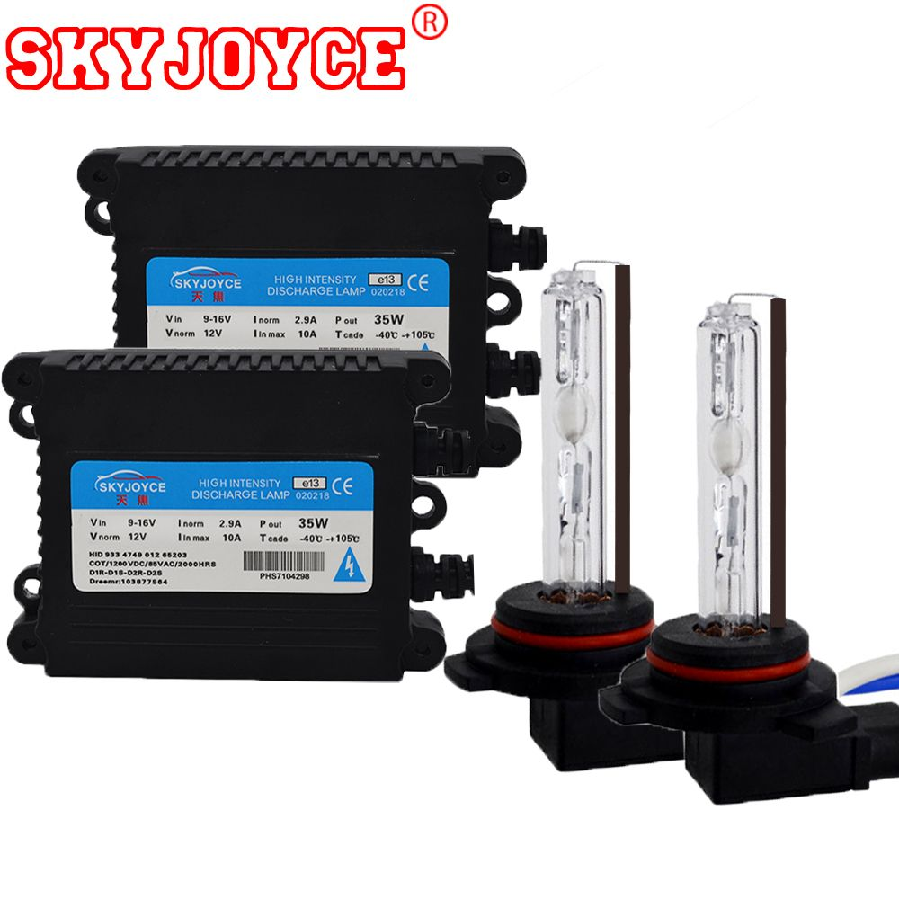 SKYJOYCE 3 sets AC 35W 9012 xenon hid headlight bulb lamp HIR2 9012 bulbs with HID ballasts for HIR2 hid kit 6000K 9012