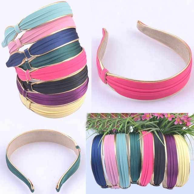 2014 newest design headbands hot fashion Solid color hair hoop hairbands girls high quality hair accessories wholesale 12pcs/lot