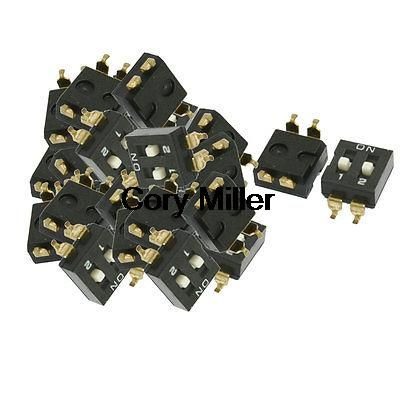Electronic Component 2 Way Slide Type SMD DIP Switches
