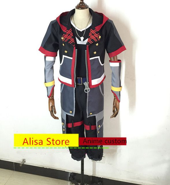 Anime Kingdom Hearts Sora cosplay Costume Any Size hot sale halloween costumes