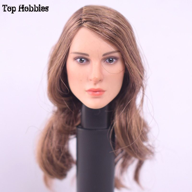 "TOP HOBBIES TOYS KT008 1/6 Scale Long Hair Girl Head Sculpt  HeadPlay F 12"" Female Phicen Action Figure Body Dolls"