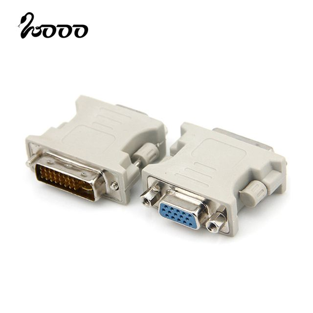[2 Pack] DVI to vga connector DVI-I(A/D) to VGA male to female 24+5 pin to 15 Pin Adapter Convert Cable Cabo for HDTV TV PC