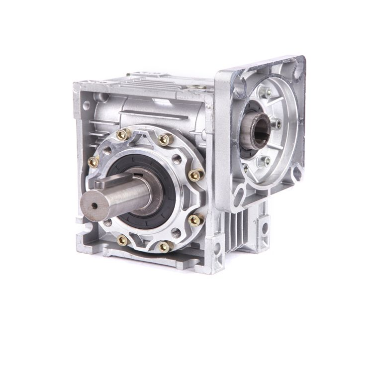 NMRV090 100:1 Worm Gearbox Reducer 22mm Single Input Shaft Worm Gear Speed Reducer 90 Degree NEMA52 Servo Motor Stepper Motor
