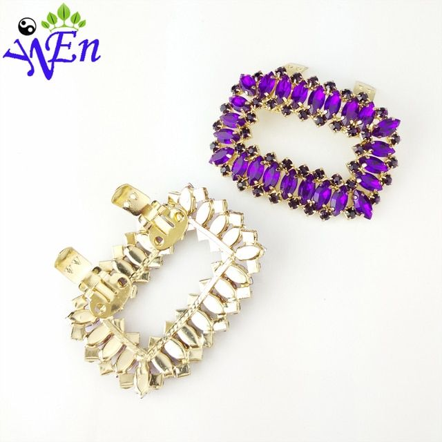 shoes clips decorative shop Shoe accessories shoe clip crystal rhinestones charm metal material N543