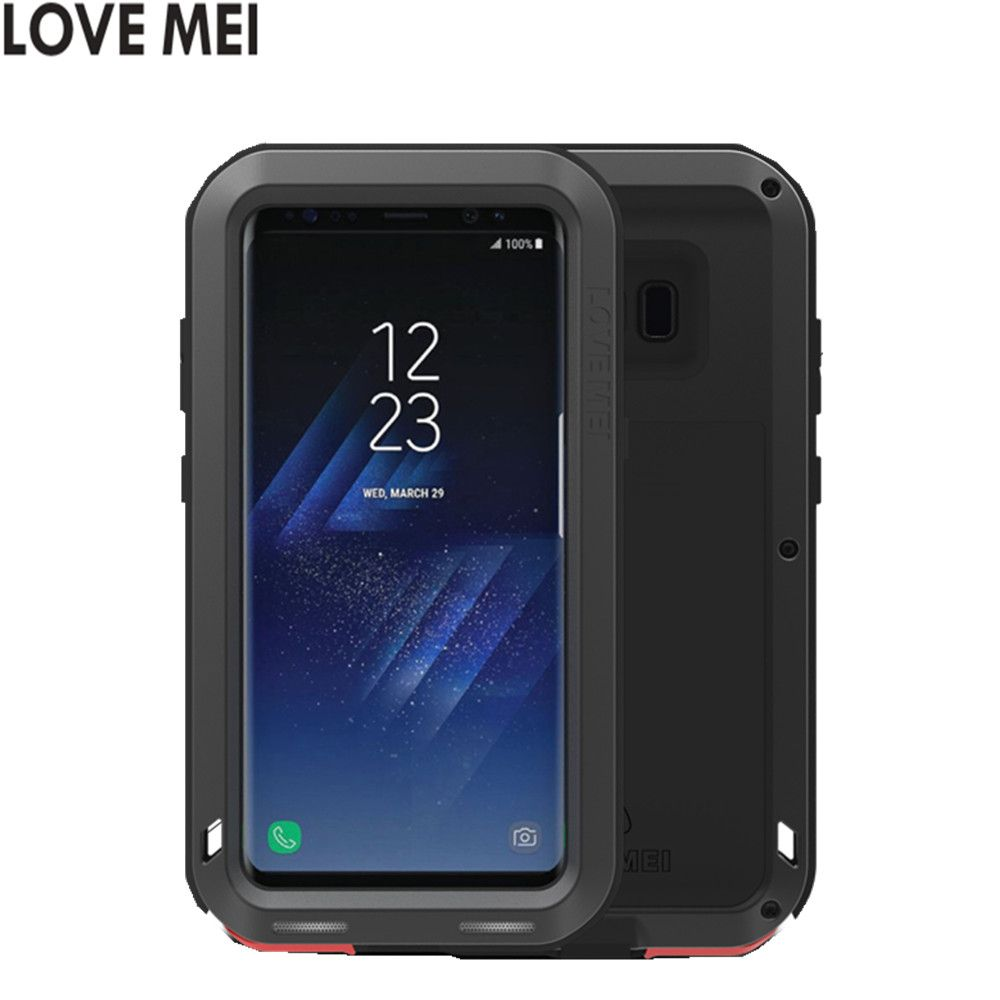 for samsung s8 g9500 Love Mei Shockproof Metal Aluminum Case Cover For galaxy s8 Plus galaxy s8+ Three proofing love mei phone