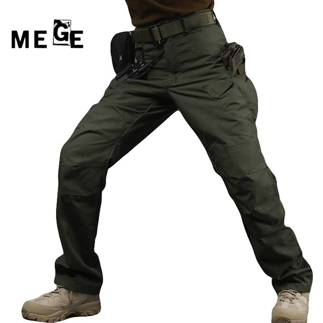 MEGE Men IX7 Army Men Pants Tactical Multi Pocket Pants, Military Combat Trouser Pantalon Homme Cargo Pants For Men