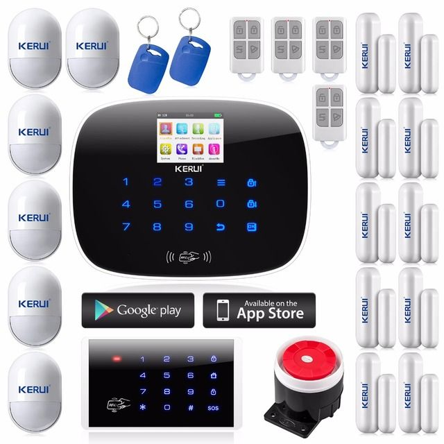 99 Wireless & 2 Wired Zone Home Security GSM Alarm System ISO & android APP Support