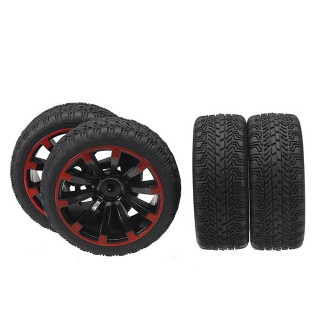Hot Sale New 4Pcs/set 1/10 On-Road Rubber Tyre For HSP Tamiya Losi RC Car Tyre