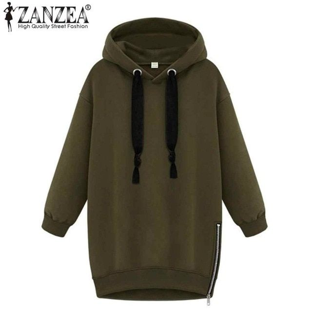 New 2018 Autumn Winter Fashion Womens Long Sleeve Hooded Loose Warm Hoodies Sweatshirt Plus Size Femininas Plus Size S-5XL