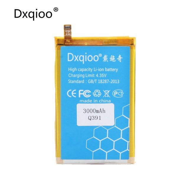 Dxqioo High quality mobile phone batteries fit for micromax Q391 batteries