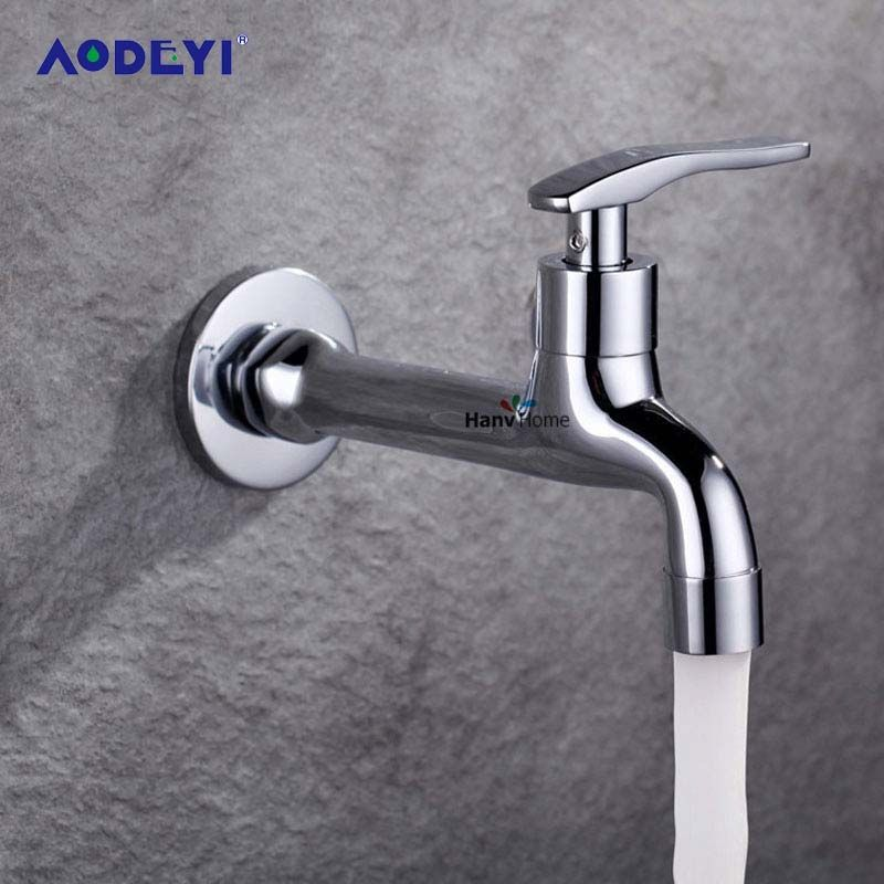 AODEYI Chrome Finish Bathroom Washing Machine Tap Cold Tap Single Handle Washer Faucet Bathroom Washing Machine Tap Parts
