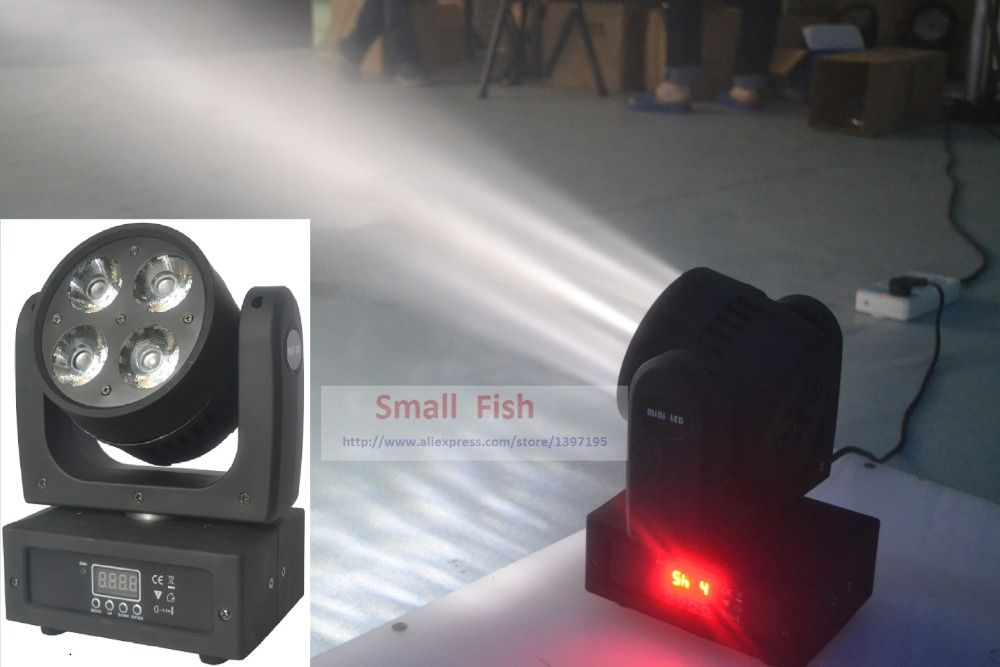 Fast Shipping LED Moving Head Wash Light 4x20W RGBW Quad Color 80W DMX Stage Beam Spot Effect Lights with advanced 9/15 channels