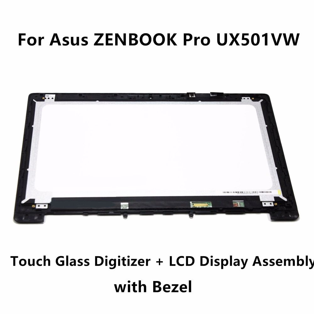 For Asus ZENBOOK Pro UX501VW-FJ098T 4K UHD Full Touch Glass Panel Digitizer Laptop LCD Display Screen Assembly Bezel 3840x2160