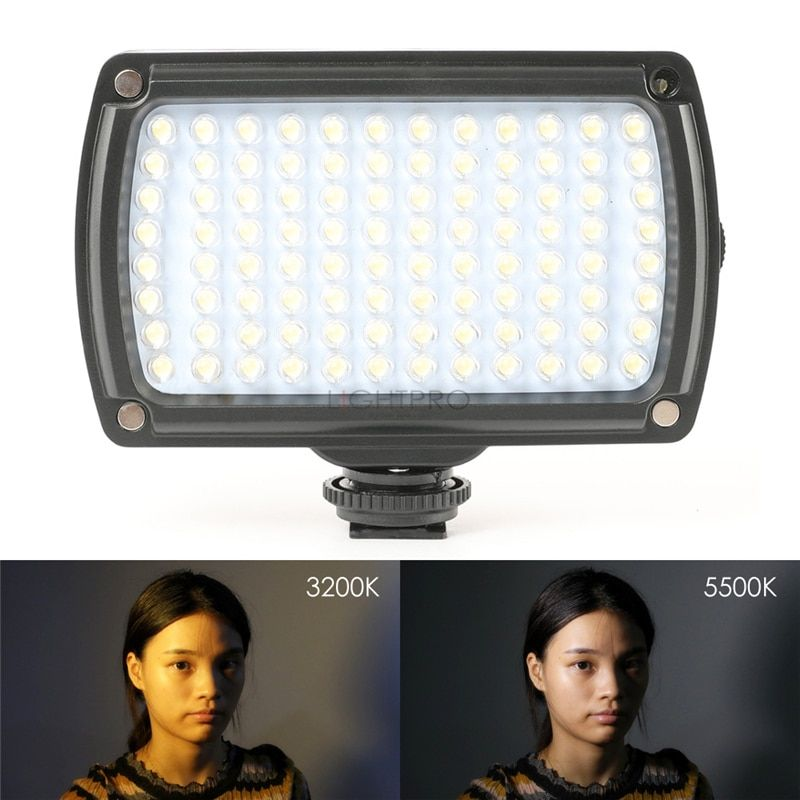 96 LED 9W Photo Camera Video Hotshoe LED Lamp 850Lux Lighting with USB Cable for Canon Nikon Camcorder DSLR Wedding