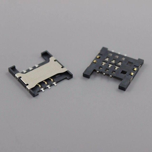 ChengHaoRan 10pcs/lot SIM Card Slot Reader Holder Connector SIM Card Socket for ZTE U880 N880 U830 U506 v880,KA-207