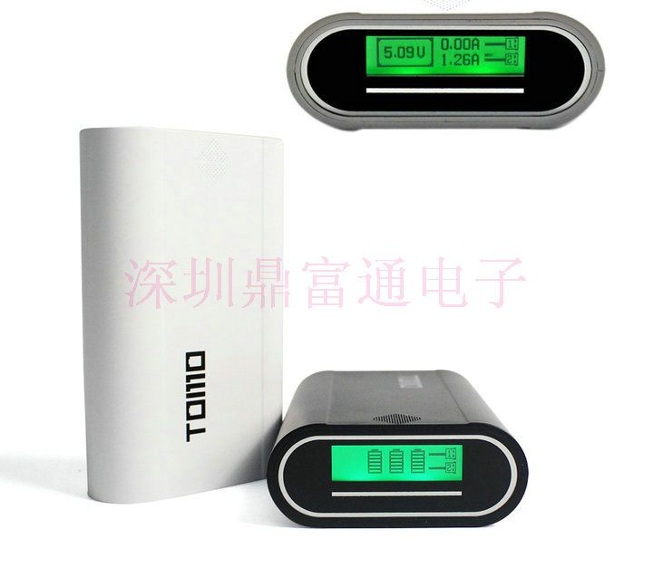 18650 Power Bank Box with Dual USB Output 1A/2A DIY Portable LCD Display Power Bank Battery Case for iPhone, Cell Phones, Tablet