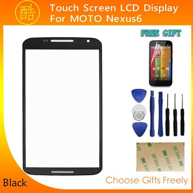 "Touch Screen Panel Digitizer Lens Glass For Motorola Nexus 6 5.0"" Replacement Rerair Parts +Tools+Tempered Glass Film+Adhesive"