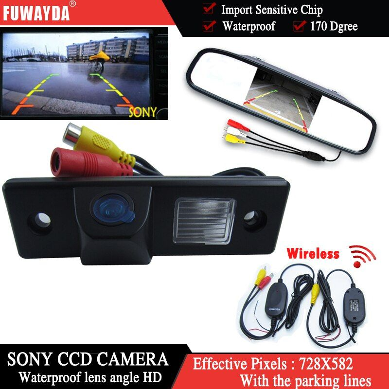 FUWAYDA Wireless SONYCCD Car RearView Camera for CHEVROLET Lova Aveo Captiva Cruze Matis Lacetti+4.3Inch rearview Mirror Monitor