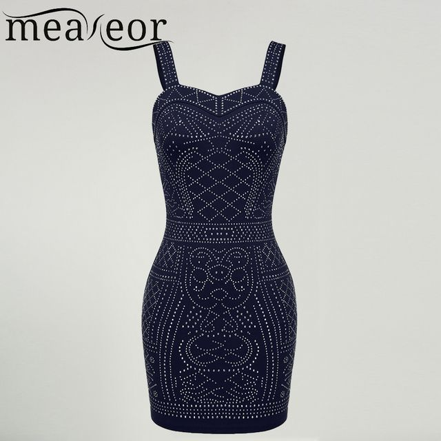Meaneor Women Sleeveless Vest dress Vintage Ethnic Sexy Bodycon Vestidos Sequin Pattern Party  Female summer Plus size XXL Dress
