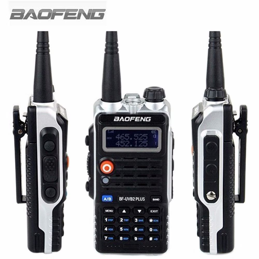 Baofeng BF-UVB2 Plus Walkie Talkie  VHF/UHF Dual Band DCS Ham Two Way Transceiver FM Transceiver Interphone