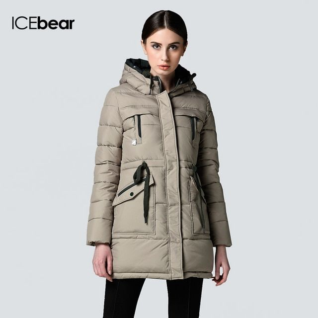 Purelife of ICEbear Long Winter Brand Fashion Clothing 2015 Jacket And Girls Plus Size Women Trendy Parka 14G6206P