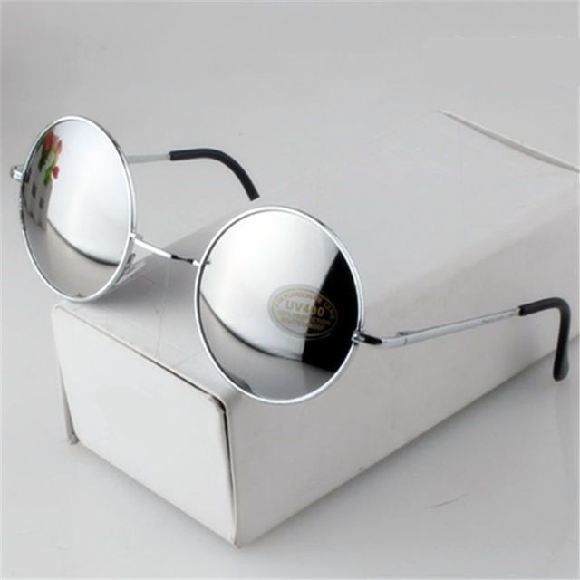 Women Men Alloy Beautiful Round Sunglasses Male Female Metal Sun Glasses Gold Vintage Circle Sunglasses Feminine