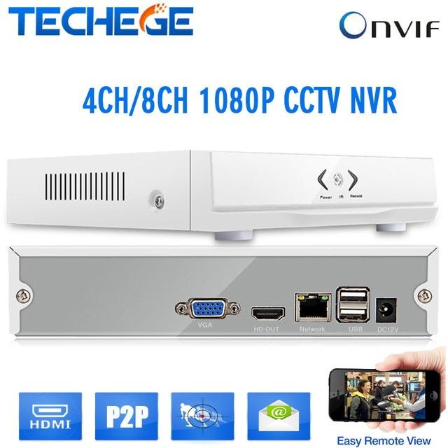 Newest  mini nvr 8ch/4ch Onvif HD 4channel 8 channel NVR 1080P Security CCTV NVR HDMI P2P for CCTV IP camera CCTV network SYSTEM