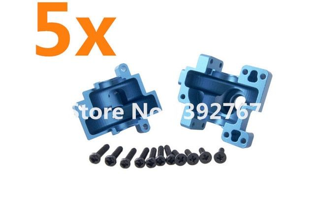 Wholesale 5Set HSP 122075 Aluminum Alloy Gear Box With Screw*11 02051 1/10 Electric Nitro Upgrade R/C Parts Buggy Truck Truggy