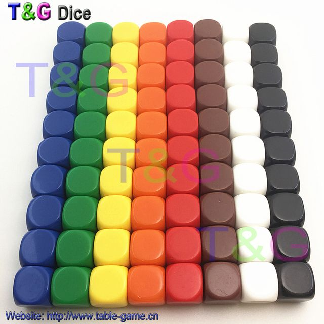 10pcs/set high quality 16mm d6 blank dice with smooth surfaces for custom printing or engraving logo Blank dice