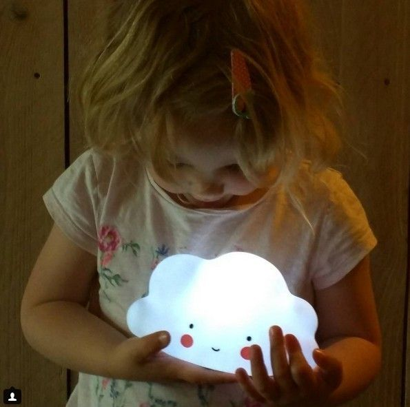 Novelty Cloud Face Night Light Childrens Bedroom Nursery Lamp Mini Cloud Lamp Toy In Bedroom Children 's Room Decorate