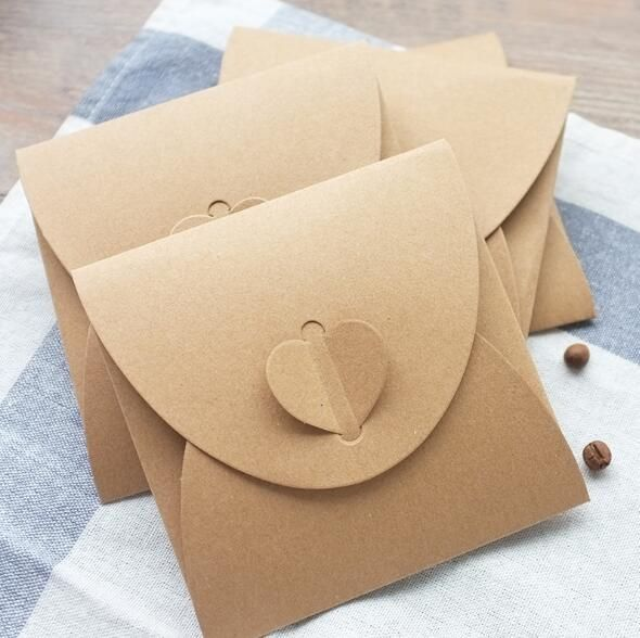 (10pcs/lot) 250gsm Kraft CD Paper Case Blank Kraft Envelopes Natural Color Plain Kraft Paper Gift Envelope CD/DVD Paper bag