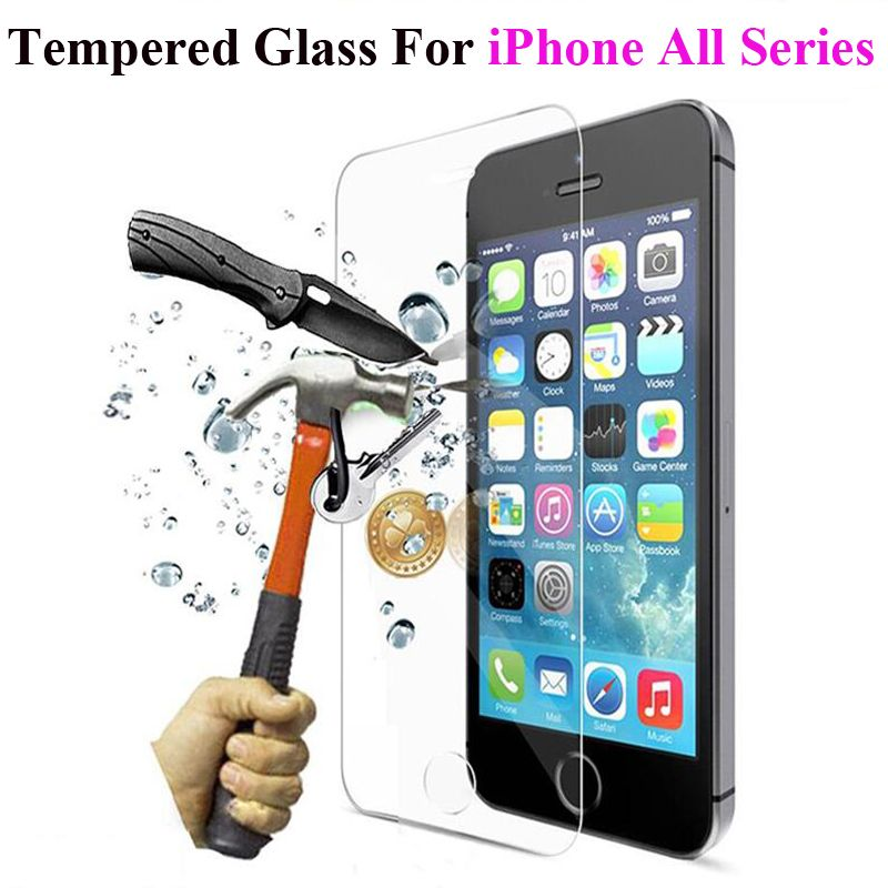Tempered Glass Screen Protector For iPhone 11 Pro Max XR XS Max 5 5S 5 SE 6 6s 7 8 Plus X Toughened Protective Film