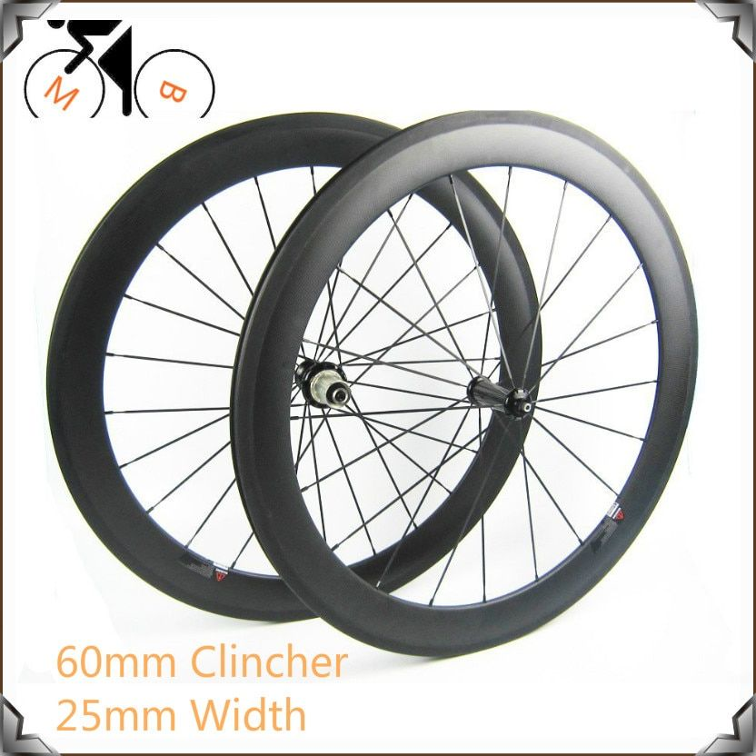 700C Aero Shape 60mm carbon clincher wheelsets 25mm U shape widely High Tg clincher wheelsets for Road bike
