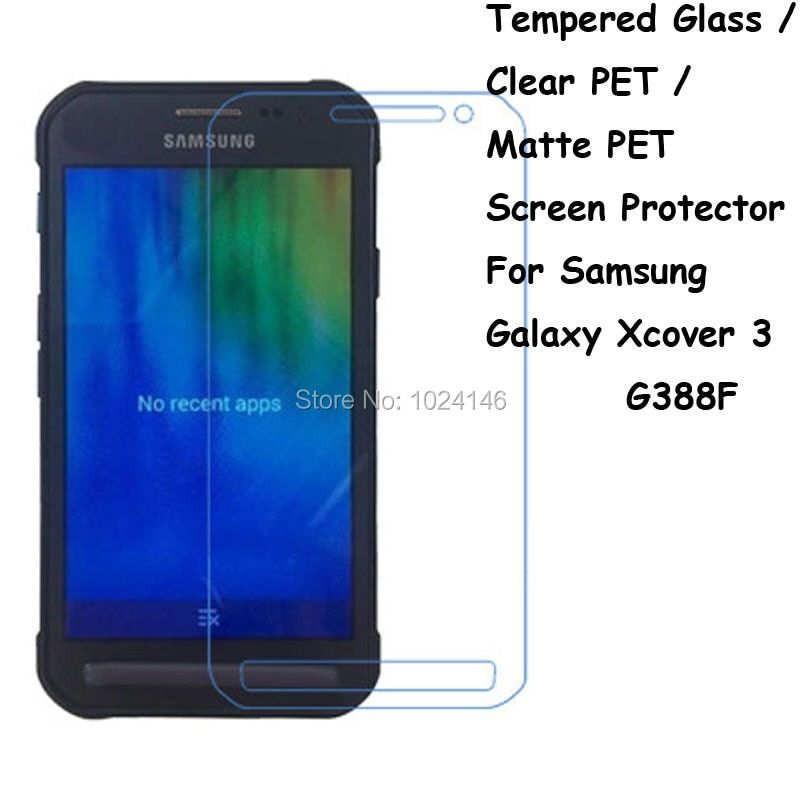 Tempered Glass / Clear PET / Matte PET -- Screen Protector Protective Film Protection Guard For Samsung Galaxy Xcover 3 G388F
