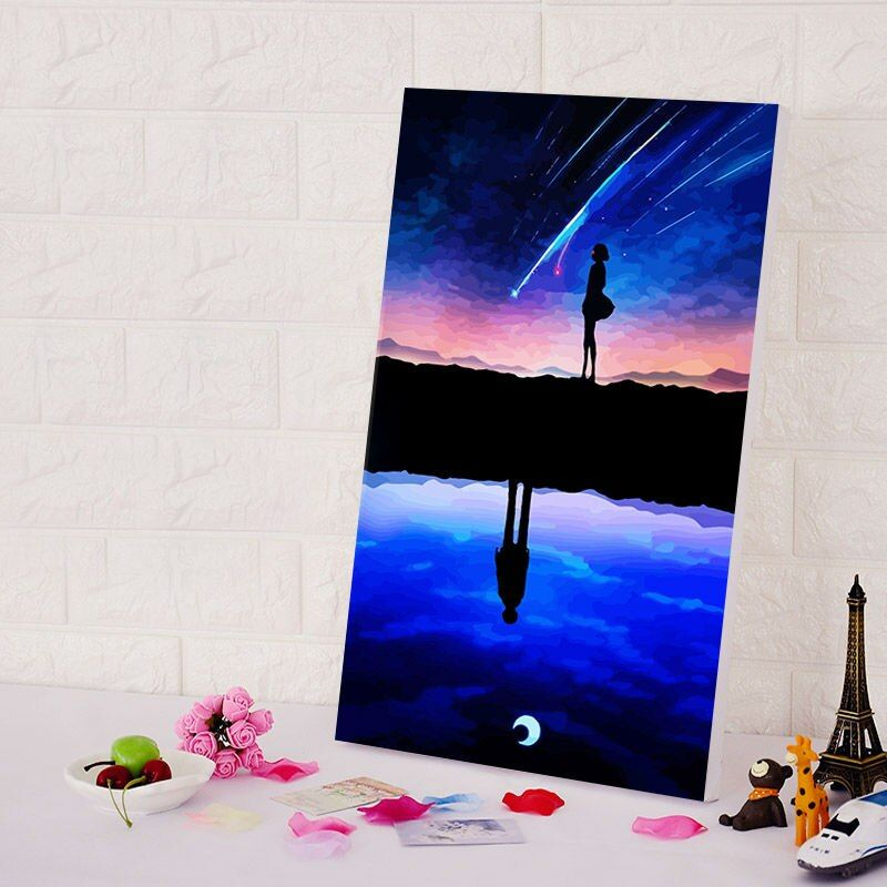 diy oil painting Your Name diy digital painting Japan Style cartoon movie poster digital paint by numbers DIY anime posters