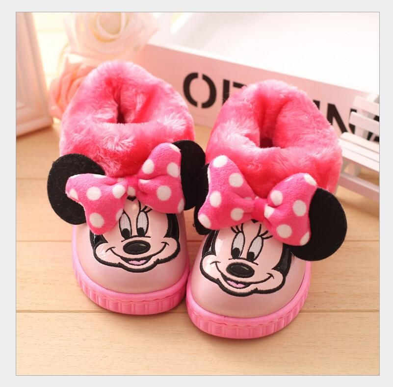 Warm soft cotton children winter shoes boys girls shoes cute cartoon kids slippers non-slip indoor girls slippers