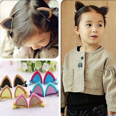 1pc Lovely Cat Ear Hairpins Hair Ornaments Hair Jewelry Children Hair Accessoreis Girls Hair Clip Kids Barrettes Hairpins