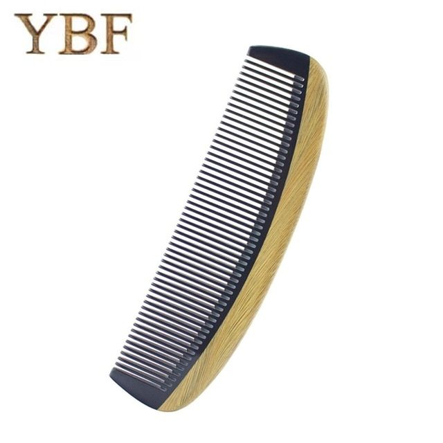 YBF High quality Authentic Natural ox horn Green sandalwood wooden Sessile Combs hair style tool mini pro brush 2018 NEW Brochas