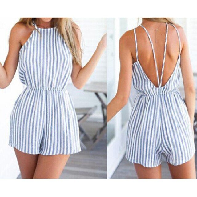 Women Playsuits Casual Fashion Rompers Of Should Hollow Out Sleeveless Combination Female Plus-size Overalls 2016 New