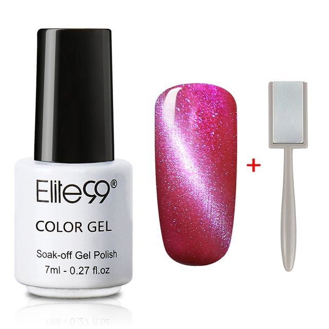 Elite99 7ml UV LED Gel Lacquer Varnish 3D Cat Eyes Gel Nail Polish UV Gel Polish Cat Eyes Nail Art Polish 1pcs Color 1 Magnet
