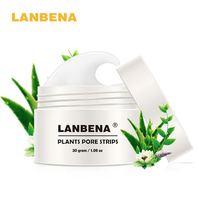 LANBENA 1Pcs Blackhead Remover Nose Mask Pore Strip Peeling Mask Acne Treatment Oil-Control Black Deep Cleansing Pimple Patch