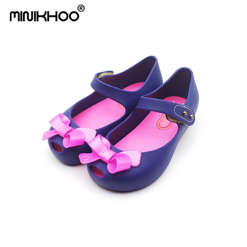 Mini Melissa (6 Colors) Cute Bow Jelly Girls Sandals Bow Princess Shoes Toddler Melissa Girl Sandals Soft Comfort Mini Shoes