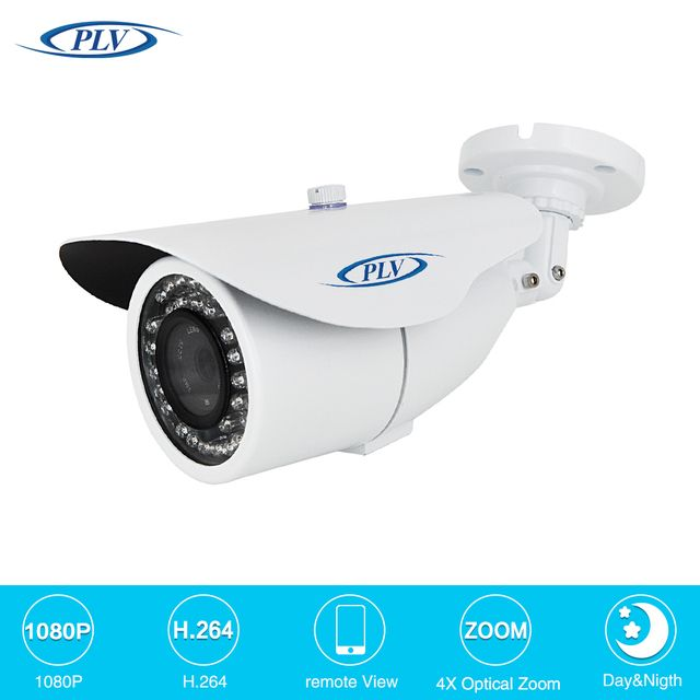 PLV Sony CMOS Security Camera CCTV Outdoor Surveillance IP Camera FULL HD 1080P 2MP POE Module 2.8~12mm motorized zoom lens