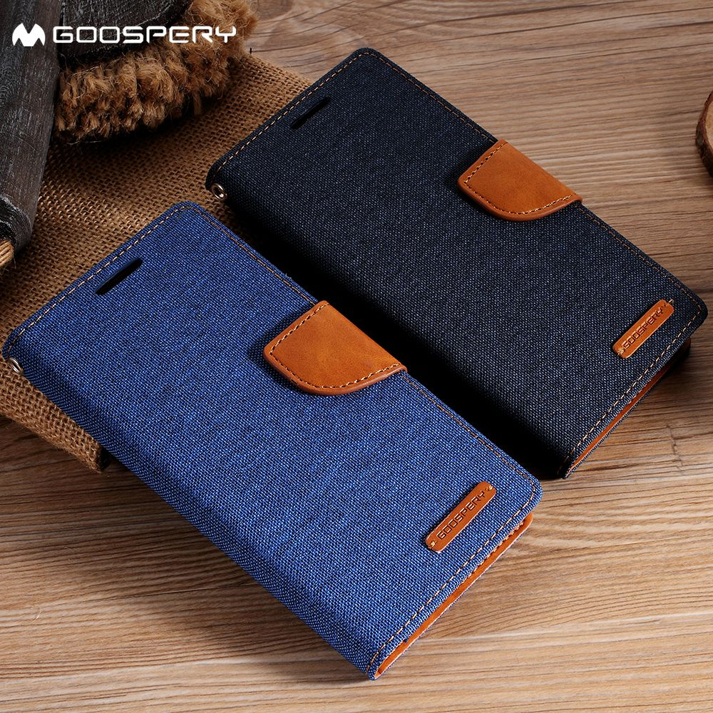 MERCURY GOOSPERY for LG G3 Case D850 D855 LS990 Fundas Canvas Leather Card Holder Flip Cover for LG G3 G 3 Case Coque Funda
