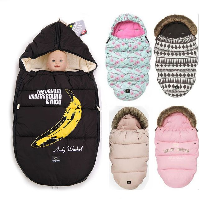 Baby stroller oversized sleeping bags as envelope and winter wrap sleepsacks,Baby products used asbag blanket swaddling bananas